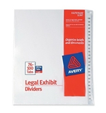 Avery Avery-Style Legal Side Tab Dividers, 26-Tab, 76-100, Letter Size, White, 25 per Set (11397)
