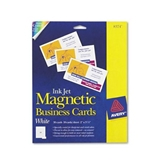 Avery Ink Jet Magnetic Business Cards, 10 Precut Cards/Sheet, 30 Cards/Pack (8374)