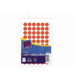 Avery Removable Color Coding Labels, 0.5 Inch, Neon Red, Round, Pack of 840 (05051)