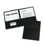 Avery Two-Pocket Portfolios, Embossed Paper, 30-Sheet Capacity, Black, Box of 25 (47988)