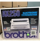 Brother AX-250 Electronic Typewriter With Key Cover NEW