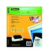 Fellowes Thermal Binding Presentation Covers, Letter, 1/8 Inch, 30 Sheets, Navy, 10 Pack - 52221