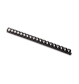 Fellowes Plastic Comb Binding Spines, 1/2 Inch Diameter, Black, 90 Sheets, 100 Pack - 52326