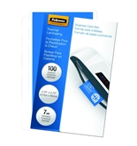 Fellowes Laminating Pouches, Thermal, Business Card Size, 7 Mil, 100 Pack - 52059