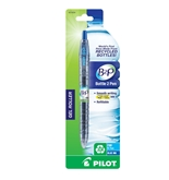 Pilot B2P - Bottle to Pen - Retractable Gel Roller Pens Made from Recycled Bottles, Single Pen, Fine Point, Blue  - 31604