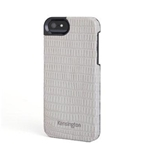 iPhone 5 Leather Shell Grey