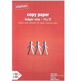 Staples Ledger Size Copy Laser Inkjet Printer Paper, 11 x 17 inch, White, Ream, 500 Total Sheets (512211)
