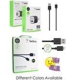 Belkin Lightning to USB ChargeSync Cable for iPhone 5 / 5S / 5c, iPad 4th Gen, iPad mini, and iPod touch 7th Gen, 4 Feet CABLE + 1AMP Home charger