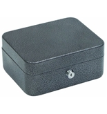 Hercules CB0806 Key Locking Cash Box and Key Cabinet with 4 Compartment Tray, 7.87- x 6.5- x 3.5-, Recycled Steel, Silver Vein