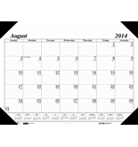 House of Doolittle 17 Month Economy Academic Refillable Desk Pad Calendar August 2014 to December 2015, 22 x 17 Inches Recycled Materials (HOD128)