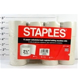 Staples Paper Calculator/Cash Register/Adding Machine Rolls, 2 1/4- x 130-, Pack of 11