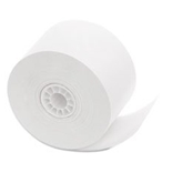 "Single Ply Cash Register/POS Rolls, 1 3/4"" x 150 ft., White, 10/Pack"