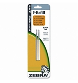 Zebra F301/F402/F605 Fine Point Black Ink Pen Refills