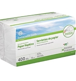Sustainable Earth by Staples Recycled Paper Napkins, 1-Ply