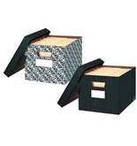 Bankers Box Letter/legal File Extra Stength 10x12x15 Decorative Series Black 2/pk