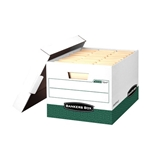 Bankers Box R Kive Heavy Duty Storage Boxes Letter Legal White/Green