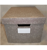 Bankers Box Stor/file Decorative Storage Boxes Letter/legal Paisley  4 Pack