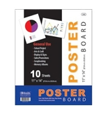 "BAZIC 11"" X 14"" White Poster Board (10/Pack) (310190)"
