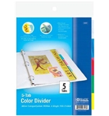 BAZIC 3-Ring Binder Dividers with 5-Insertable Color Tabs [Office Product]