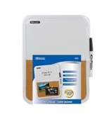 BAZIC 8.5 X 11-Inches, Dry Erase / Cork Combo Board with Marker, Case of 12 (6030-12)