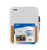 BAZIC 8.5 X 11-Inches Dry Erase / Cork Combo Board with Marker (6030)