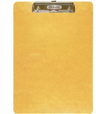 BAZIC Standard Size Hardboard Clipboard with Low Profile Clip, Wood