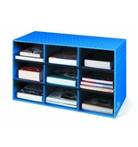 Bb Classroom Cubby with channels Blue