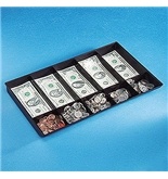 Buddy 5334 BDY5334 Recycled Plastic Ten-Compartment Cash Tray without Lid, Black