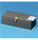 "Buddy 5901 BDY5901 Recycled Steel Security Check File Box with 4"" Slotted Top, Gray"