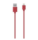 Belkin 4-Foot Lightning to USB ChargeSync Cable for iPhone 5 / 5S / 5c, iPad 4G, iPad mini, and iPod touch 7G (Red)