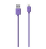 Belkin 4-Foot Lightning to USB ChargeSync Cable for iPhone 5 / 5S / 5c, iPad 4G, iPad mini, and iPod touch 7G (Purple)