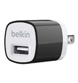 Belkin MiXiT Home and Travel Wall Charger with USB Port - 1 AMP / 5 Watt (Black)