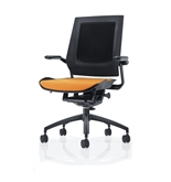 Bodyflex BF4100ORG Office Chair with Black Frame and Orange Fabric