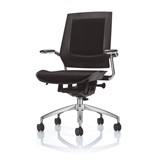 Bodyflex BF4300BLK Office Chair with Chrome Frame and Black Fabric