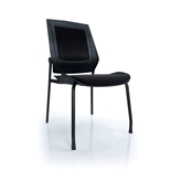 Bodyflex BFSG-BLK Side Chair with Black Frame and Black Fabric