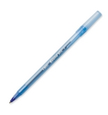 BIC Round Stic Ball Pen, Fine Point, 0.8mm, Blue, 12 Pens (GSF11-Blu)
