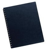 Binding Cover Expressions Linen Navy Ltr