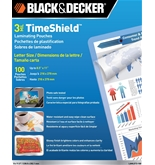 BLACK + DECKER TimeShield Thermal Laminating Pouches, Letter, 3 mil - 100 Pack (LAMLET3-100)