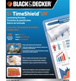 BLACK + DECKER TimeShield UV Thermal Laminating Pouches, Letter, 5 mil - 100 Pack (LAMLET5-100)