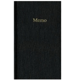 Blueline Memo Pad, Black, 6.75 x 4 Inches, 100 Pages (A385)