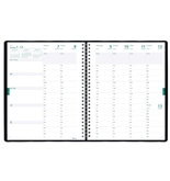 Blueline Weekly Academic Planner, July 2012 - July 2013, Twin-Wire, 11 x 8.5-Inches, Black, 1 Planner (CA109.81T)