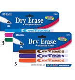 BAZIC Bright Color Fine Tip Dry-Erase Marker (3/Pack)