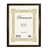 BAZIC 8.5 X 11 Document Frame with Gold Border