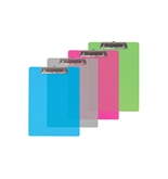 BAZIC Memo Size Plastic Clipboard with Low Profile Clip