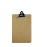 BAZIC Memo Size Hardboard Clipboard with Sturdy Spring Clip