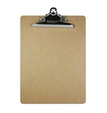 BAZIC Standard Size Hardboard Clipboard with Sturdy Spring Clip
