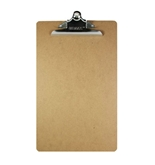 BAZIC Legal Size Hardboard Clipboard with Sturdy Spring Clip