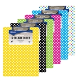 BAZIC Standard Size Polka Dot Paperboard Clipboard with Low Profile Clip