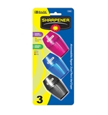 BAZIC Single Hole Sharpener with Receptacle (3/pack)