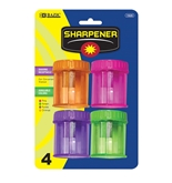BAZIC Single Hole Sharpener with Round Receptacle (4/pack)